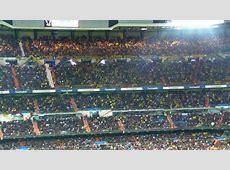 Stimmung der BVB Fans im Estadio Santiago Bernabéu Real