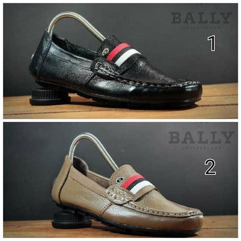 jual sepatu slip on bally slop moccasin leather pria murah