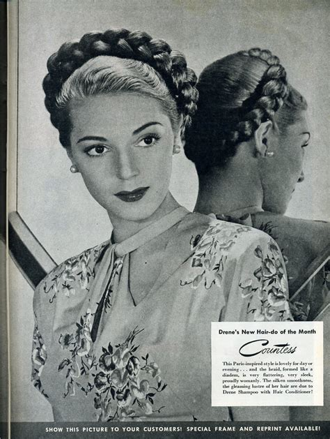 1940s Braided Hairstyles by Fashionable Forties A Braided Updo
