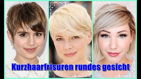kurzhaarfrisuren rundes gesicht  youtube