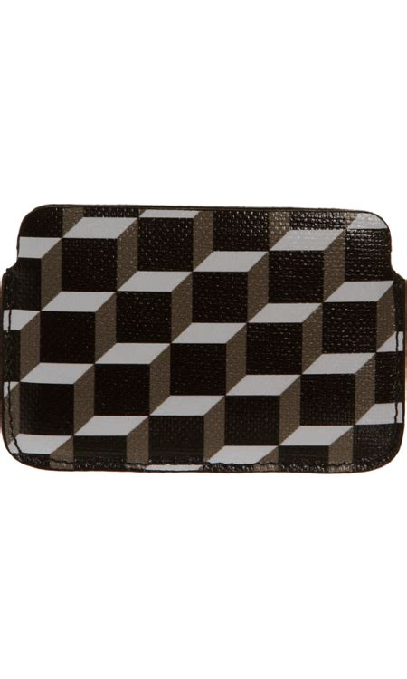pierre hardy cube print card case  images card