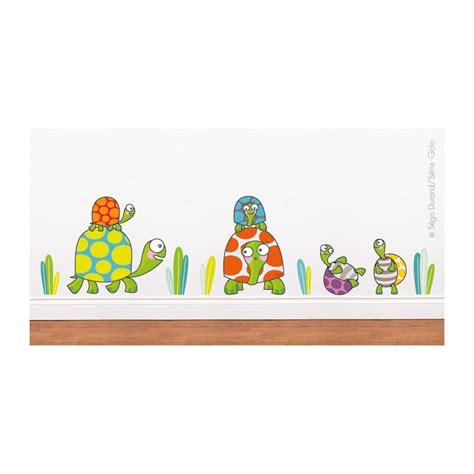 sticker chambre bebe garcon sticker famille tortue déco chambre bébé enfant série