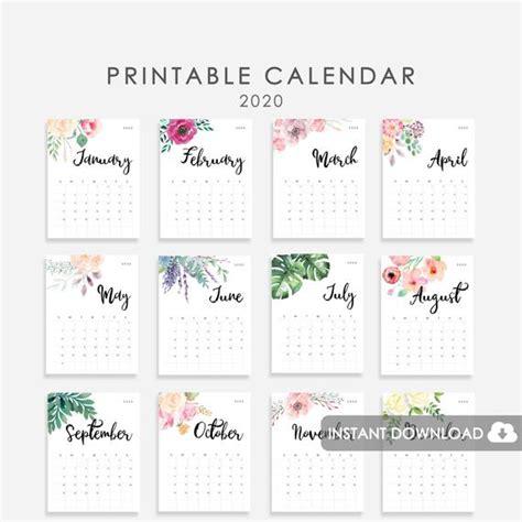 calendar printable desk calendar wall etsy