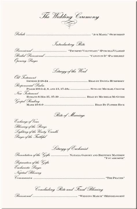 wording examples wedding ceremony programs wedding