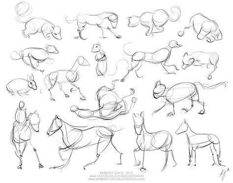 gesture drawing animals day  kimberly joyce illustration