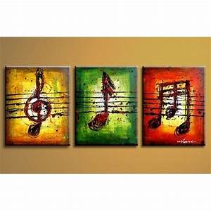 Musical Notes 2 Abstract oil painting on sale!