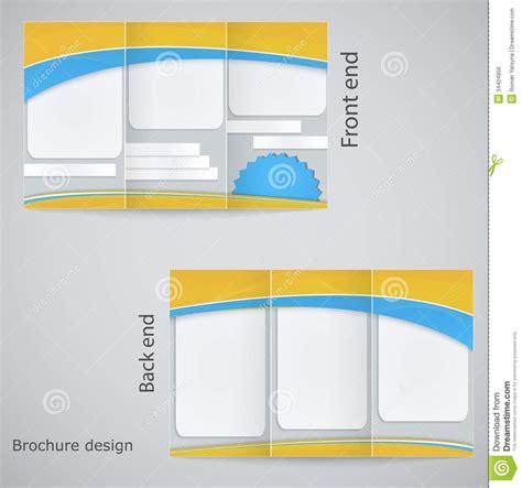 Brochure Template Design by Tri Fold Brochure Design Stock Vector Image Of Branding