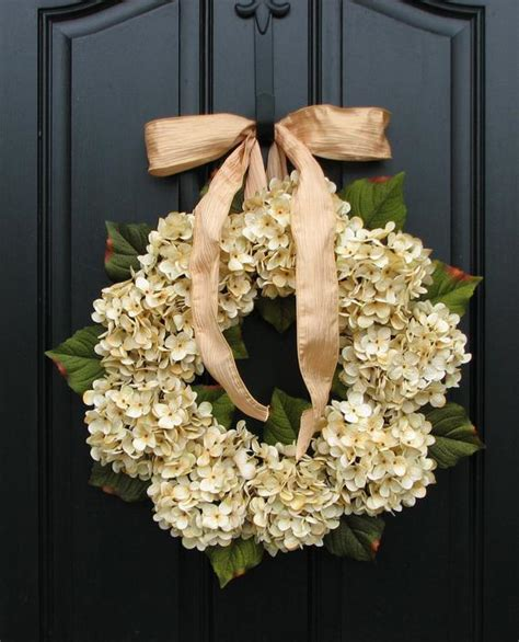 Hydrangea Wreaths Fall Wedding Decor Wedding Wreaths