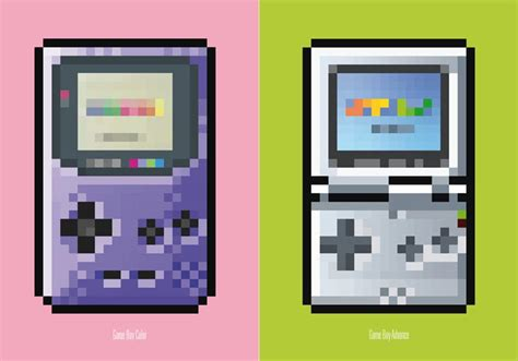 Game Console Themed Posters With Pixel Art Style Gadgetsin