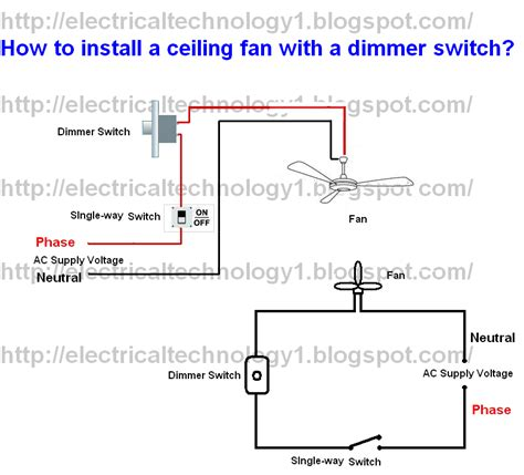 how to install ceiling fan wiring diagrams 563368 wiring diagram dimmer switch dimmer