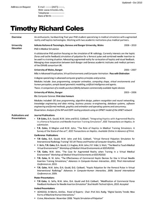 resume contact information for references cv timcoles info