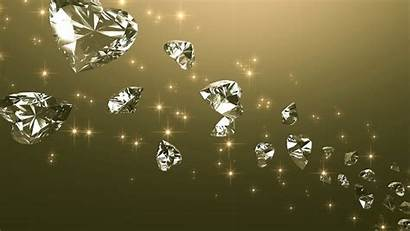 Wallpapers Diamonds Heart Floating Diamond Background Crystal