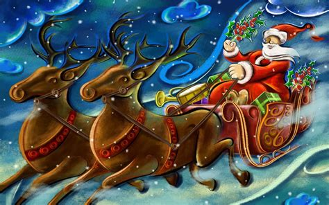 santa claus wallpapers merry christmas