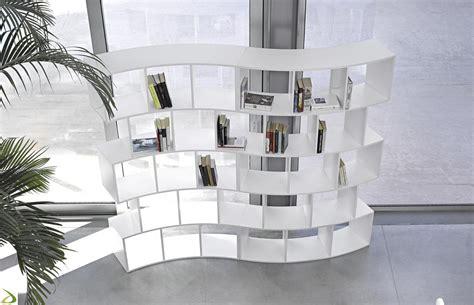 libreria soggiorno design mobile libreria curva bifacciale river arredo design