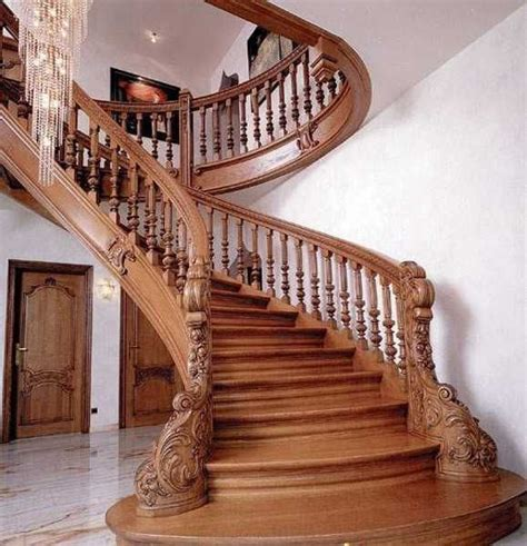 Wooden Stair Banister by 33 Staircase Designs Enriching Modern Interiors With