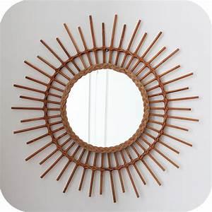 Petit Miroir Rotin : mobilier vintage miroir rotin osier vintage moelle de rotin ann es 50 ann es 60 atelier du ~ Melissatoandfro.com Idées de Décoration