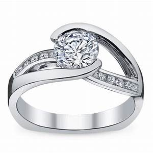 ladies 14k white gold diamond engagement ring With robbins brothers wedding rings