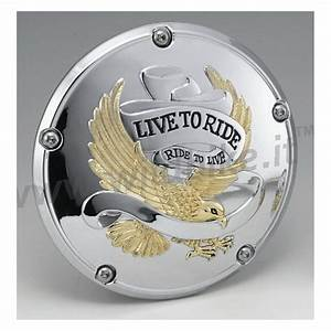 Couvercle D U0026 39 Embrayage Live To Ride Chrome Or Pour Harley