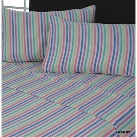 Candy Stripe   Flannelette   Sheet Set   Tony's Textiles