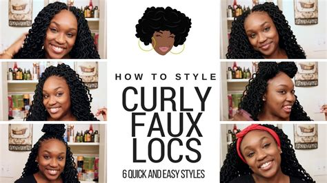 How To Style Your Curly Faux Locs