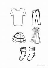 Clothes Colouring Worksheets Printable Worksheet Esl Colour Printables sketch template