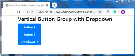 bootstrap  buttons groups tutorial