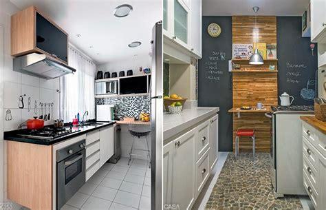 Como decorar cozinhas pequenas do tipo corredor Casinha