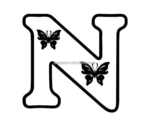 printable stencil letters 9 best images of cut out letter n large letter n 12284