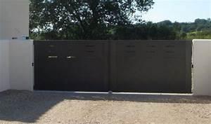 Portail Sur Mesure Castorama : portail fer battant portail 1 battant 4m auvergne softair ~ Carolinahurricanesstore.com Idées de Décoration