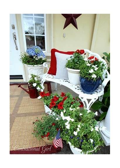 Porch Patriotic Decorations Decor July 4th Garden