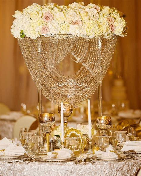 cm tall wedding crystal flower stand table centerpiece