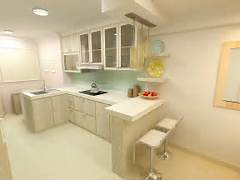 Kitchen Design For Flats by F Guinto Portfolio Modern Country Style HDB 3 Room Flat