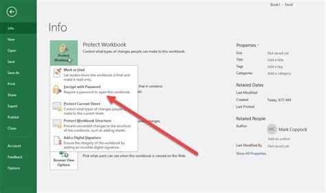 password protect  excel document digital trends