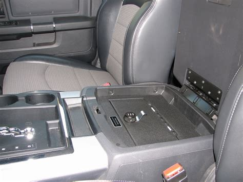dodge ram console 1500 floor 2500 vault 2009 safes vehicle gunsafes