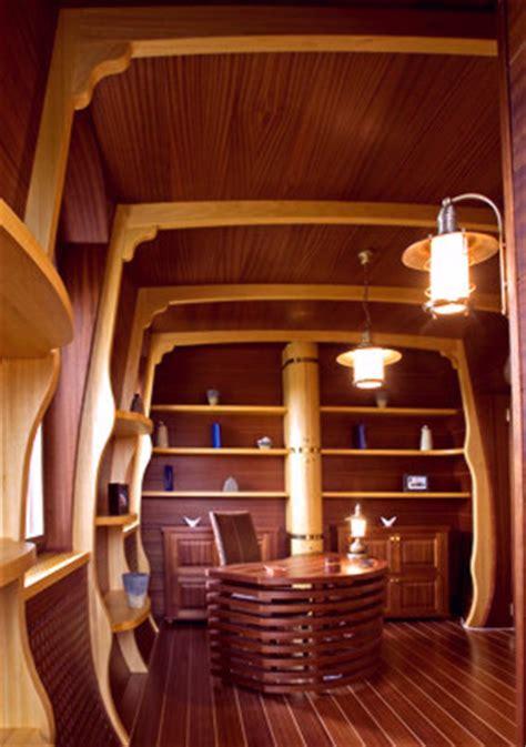 yacht interior mahogany furniture yacht design