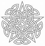 Celtic Mandala Coloring Pentacle Embroidery Knotwork Pentagram Patterns Pagan Unique Urbanthreads Urban Threads Coloriage Knot Pattern Quilt Awesome Paper Printable sketch template