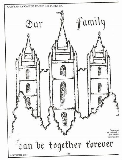 Lds Coloring Pages Temple Nursery Primary Forever