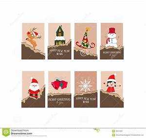 Christmas gift cards stock vector. Image of 2015, artwork ...