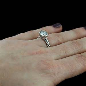 traditional engagement rings white gold non traditional moissanite braided shank engagement ring orospot