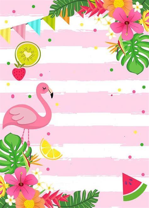 convite flamingo  abacaxi auricelis en