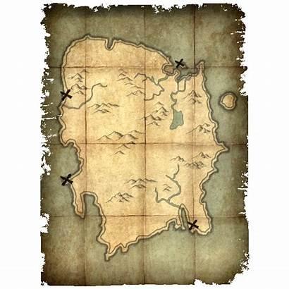 Map Treasure Deathbrand Skyrim Gamepedia Type