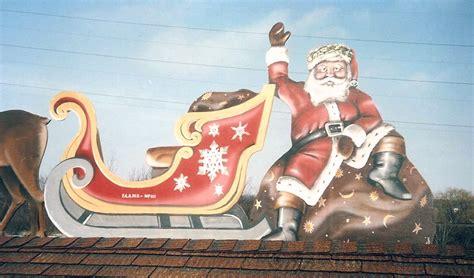 rooftop santa and sleigh original santa sleigh reindeer for rooftop paul barker copy 2 googleplex murals