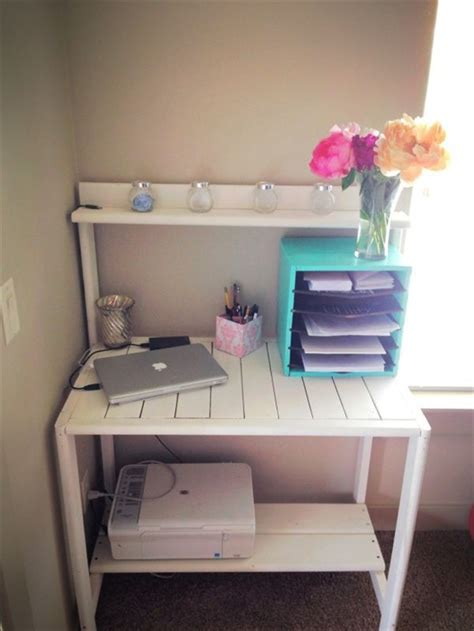 ideas    pallet desk  recycled pallets