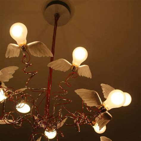 ingo maurer birdie chandelier  red cables stardust