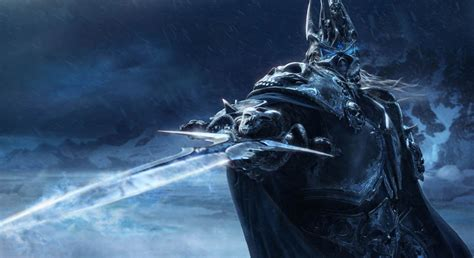 lich king wielding frostmourne art world  warcraft
