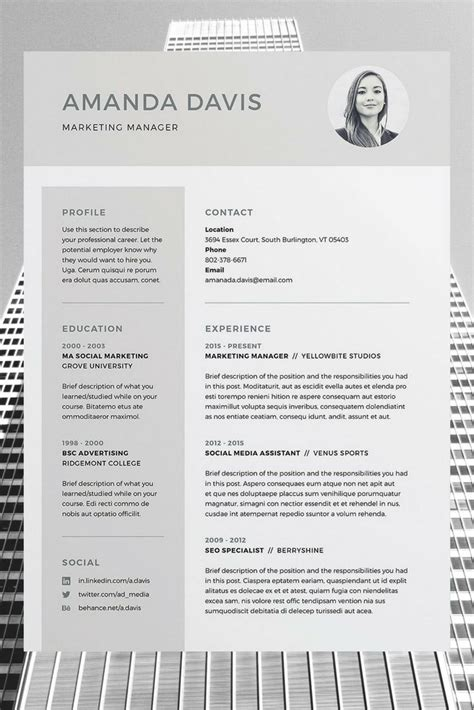 Best Free Cv Templates by Best 25 Free Cv Template Ideas On Cv Design