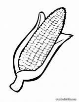 Corn Coloring Thanksgiving Ear Kwanzaa Activity Idea Place Tiny sketch template