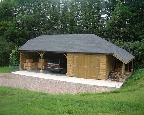open carports  enclosed garage bitumen felt slate roof    hip   full hip