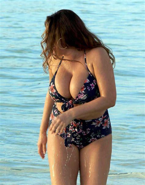 Kelly Brook in Bikini at a Beach in Antigua | Guide to ...