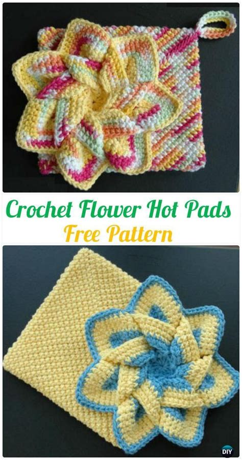 Kitchen Towels And Hotpads by 40 Crochet Pot Holder Hotpad Free Patterns Crochet And